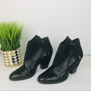 Dolce Vita Black mixed media leather ankle Bootie